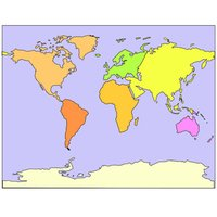 World geographic puzzle