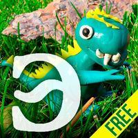 Динозавры - детская энциклопедия Free. Раскраски для детей и малышей. Звуки животных.