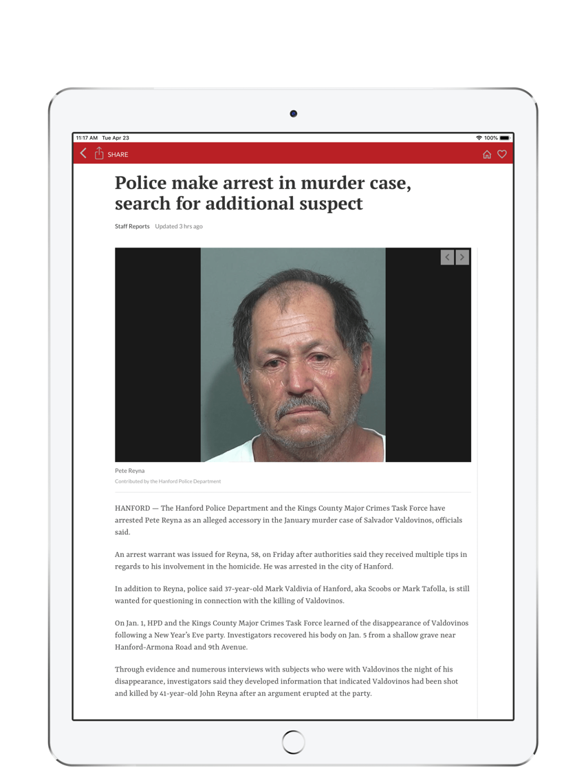 The Sentinel, Hanford, CA App for iPhone - Free Download The