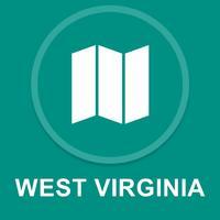 West Virginia, USA : Offline GPS Navigation