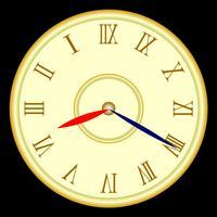鏡時計 今、何時?