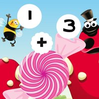Calculate Candy Sums! Find the Solution in Great Bug`s Life! Free Education Math Learning Kids Game