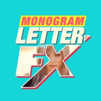 Monogram & Background Letter Fx - Add Characters & Shape Masking and Create Awesome Photo