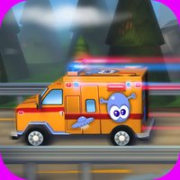 A Little Ambulance in Action Free: 3D Fun Exciting Driving for Kids with Cute Emergency Car