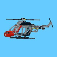 Helicopter for LEGO Technic 8051 Set - Building Instructions