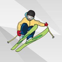 Skiing Sticker Set