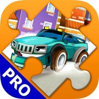 Cartoon Cars Puzzles for Kids. Premium