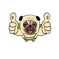 The Cute Pug Animated for iMessage