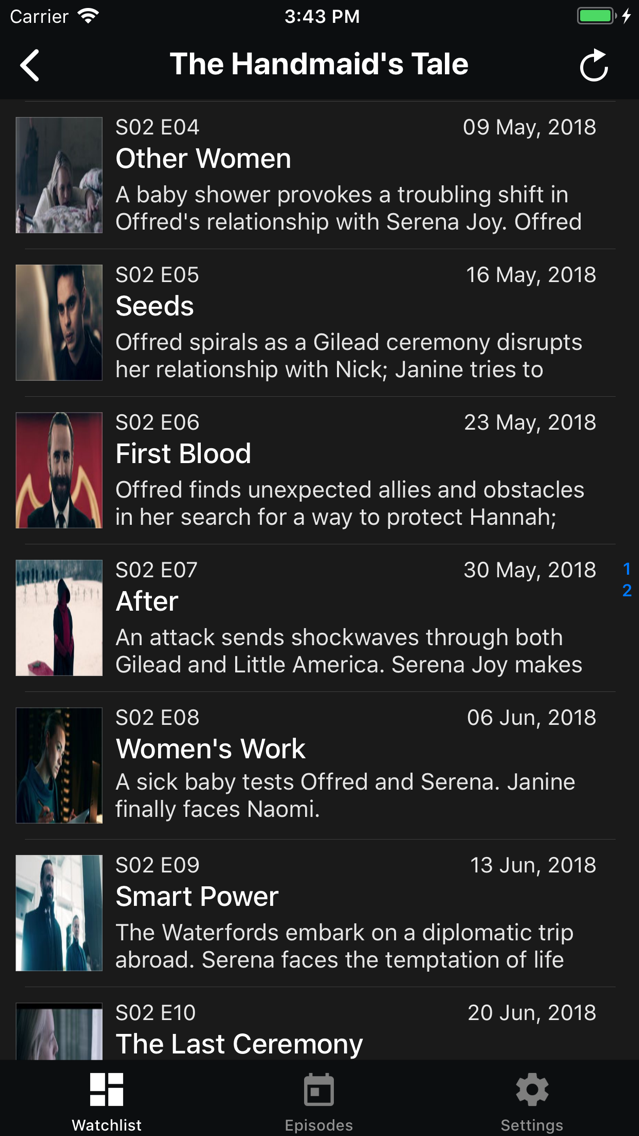TV Tracker - TV Show Tracker App for iPhone - Free Download