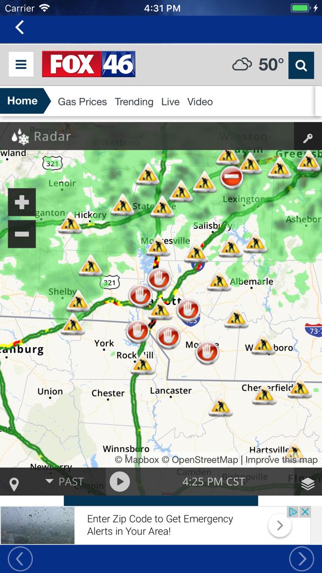 FOX 46 Weather Alerts & Radar App for iPhone - Free Download
