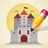 Castle & Princess Coloring Book: Learn to color