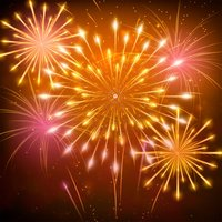 Animated Fireworks for Message