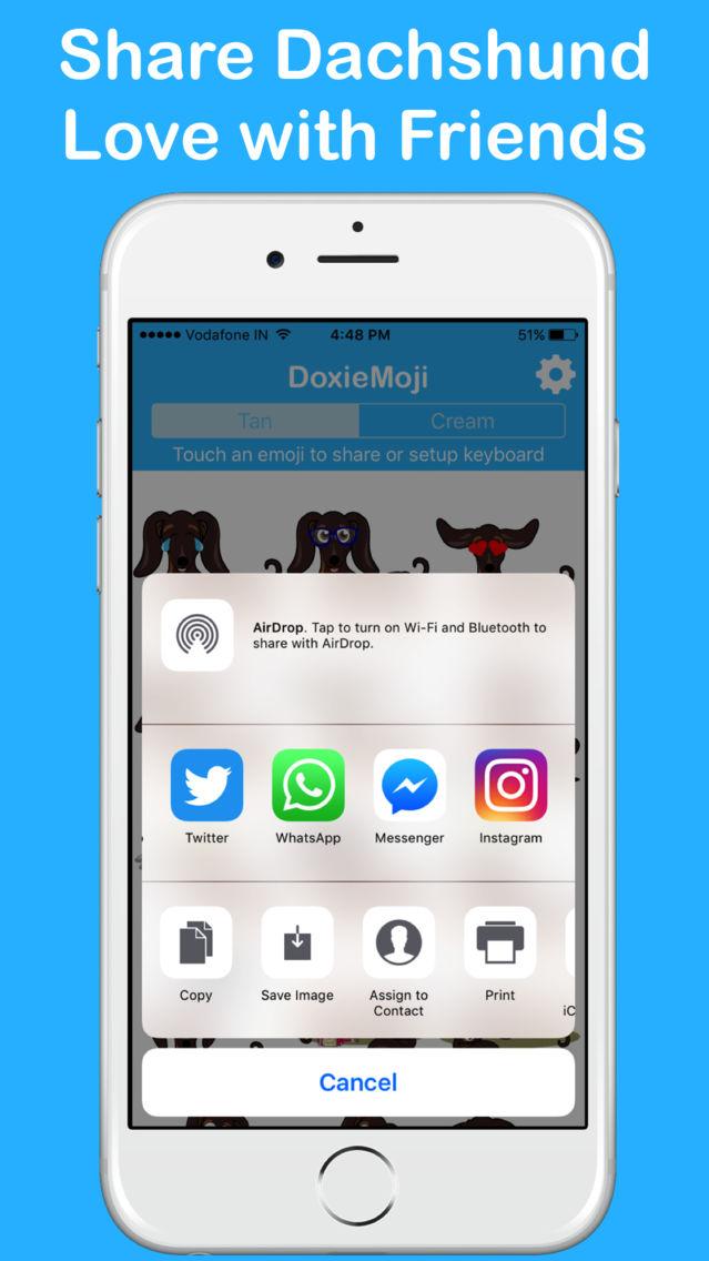 DoxieMoji - Dachshund Love Weinermoji & Stickers App for iPhone