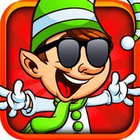 Christmas ELF Fun - Funny Elf Spending Christmas Holidays in Rushy Streets