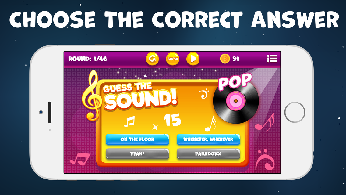 Guess The Song Music Games Pop App for iPhone - Free