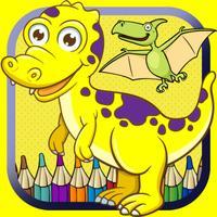 Toddler Dinosaur Coloring Book fun crayons for kid