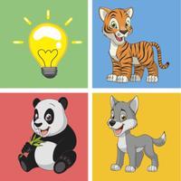 Cute Animal pairs matching remember game preschool