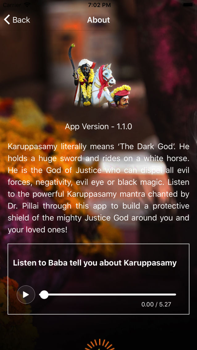 Karuppasamy Mantra App for iPhone - Free Download