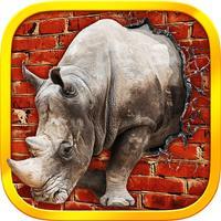 Raging Rhino Simulator - 3D Wild Rhino Rampage