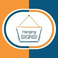 Hang a Sign! II (Orange/Dark Blue)