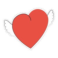 Cupid's Heart - Stickers