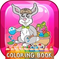 Happy Easter Coloring Book: Education Games Free For Kids And Toddlers!