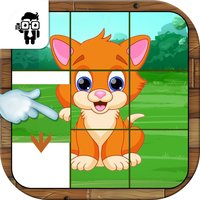 Pet Animal Slide Puzzle Game