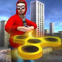 Fidget Spinner Frisbee Hero - superhero fighting