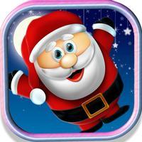 Christmas Santa Jump With Snow