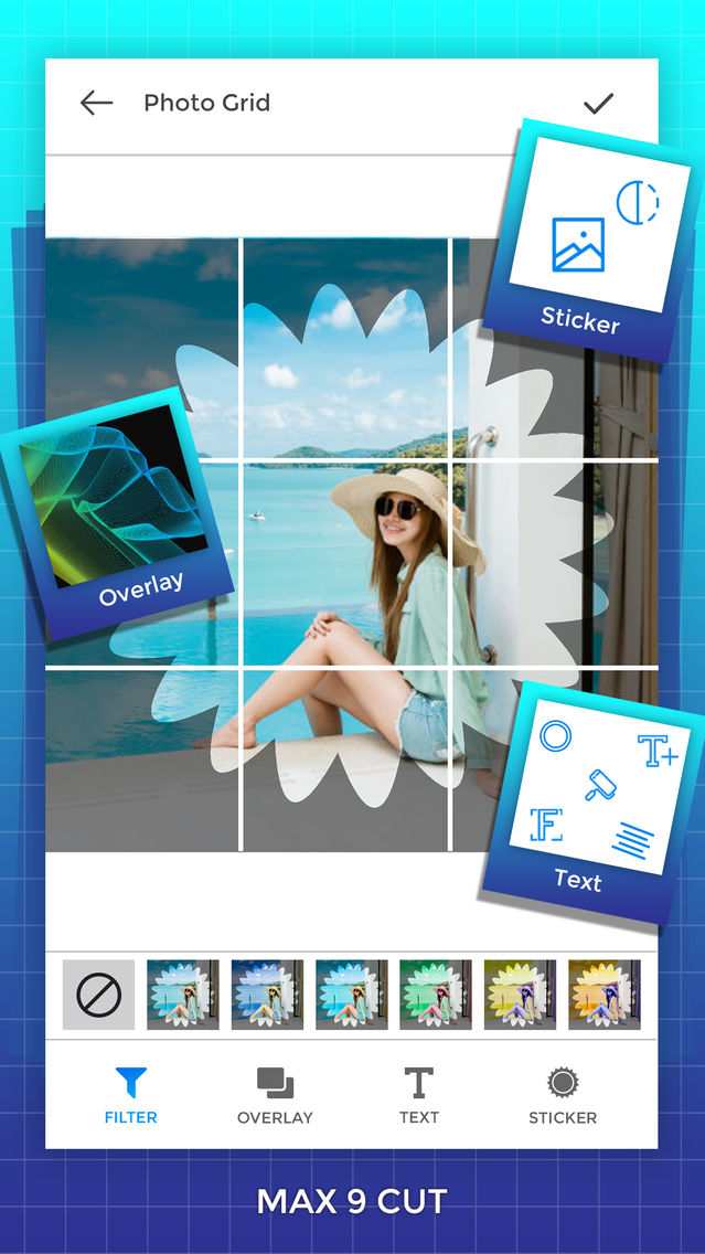 Grid Photos - 9 Square Photo App for iPhone - Free Download