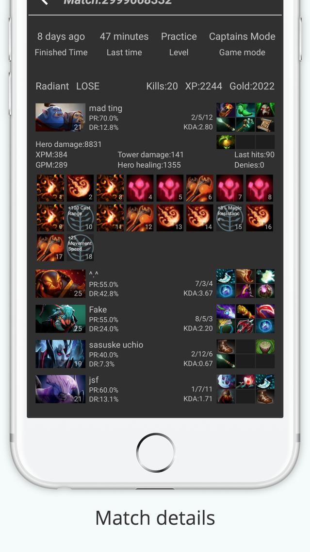 Dota 2 Tracker App for iPhone - Free Download Dota 2 Tracker