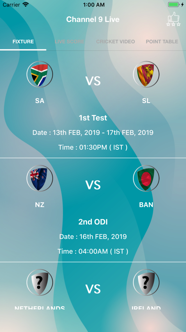 Channel 9 Live - IPL 2019 Live App for iPhone - Free Download