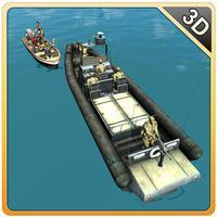 Army Boat Sea Border Patrol – Real mini ship sailing & shooting simulator game