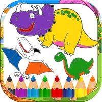 Cool Dinosaur for Kid - 1st Grade Coloring Book