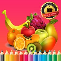 Fruit Vegetable Paint and Coloring Book: Learning Skill The Best of Fun Games Free For Kids