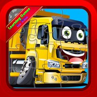Trucks Jigsaw Puzzles Educational Games for Kids