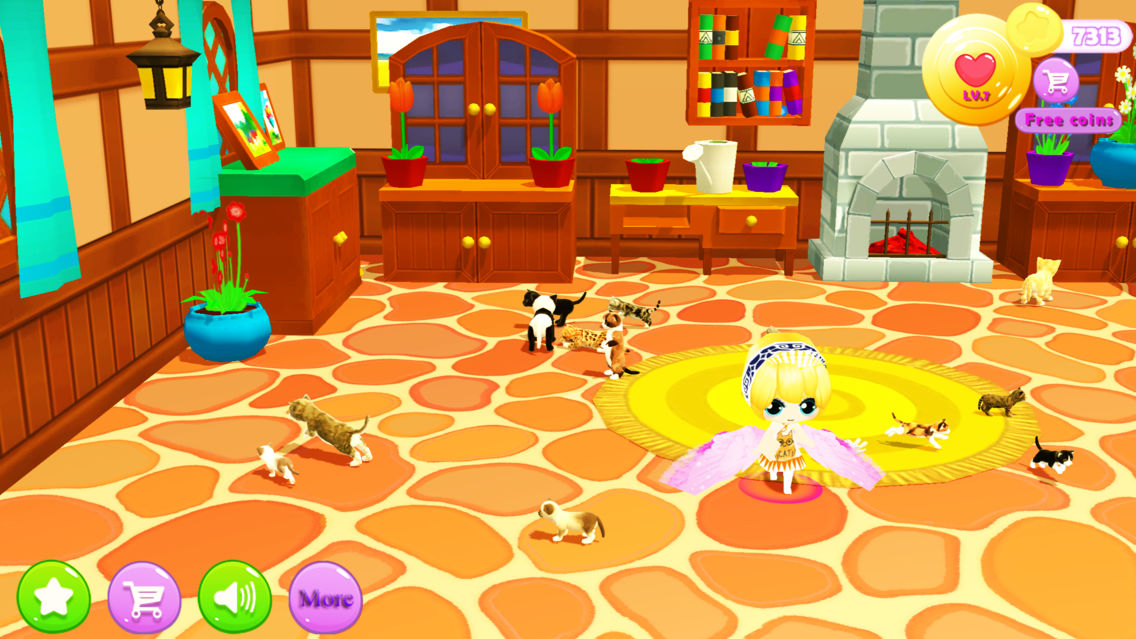 Princess Cute Kitten App for iPhone - Free Download Princess