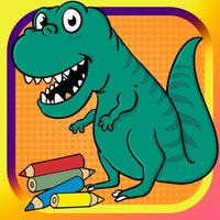 Dinosaur coloring page for kid doodle coloringbook