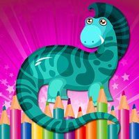Coloring Book Little Dino Game for Kids Free