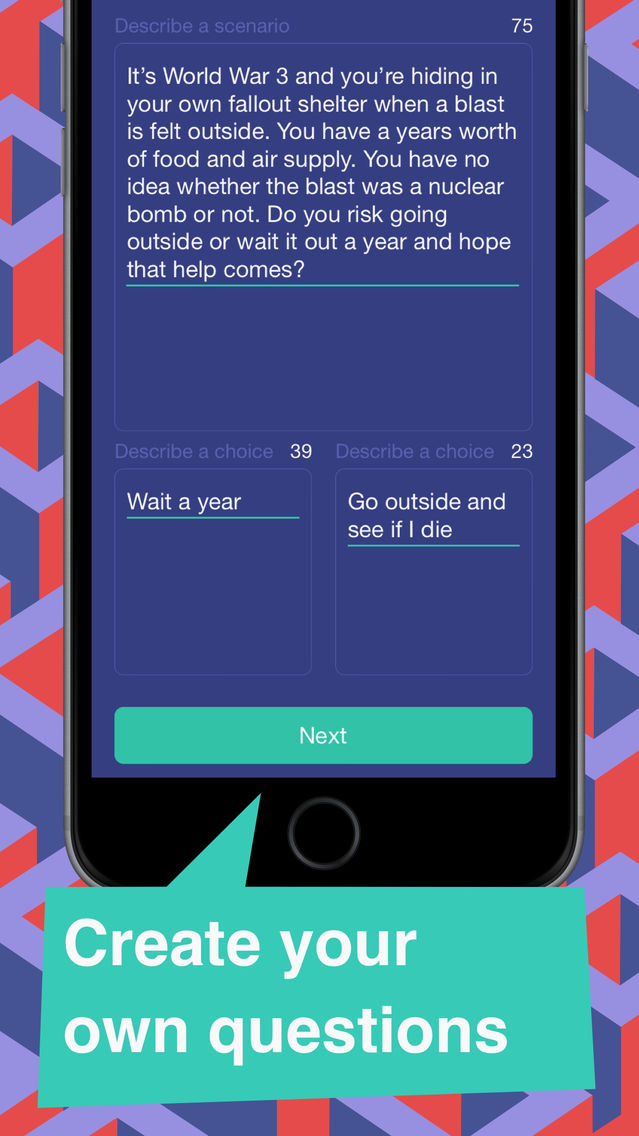 Scenario Game-Would You Rather App for iPhone - Free Download