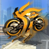 Fast Flying Robot Motorcycle: Drone Simulator