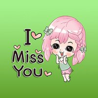 Pearl Pink Hair Girl English Stickers