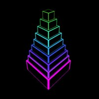 Neon Block Tower