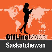 Saskatchewan Offline Map and Travel Trip Guide