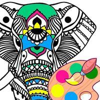 Easy Animals: Mandala Coloring