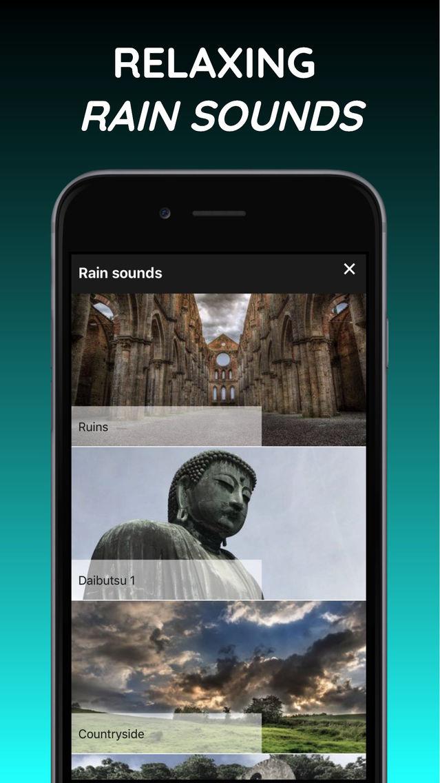 Rainy Mind: rain sleep sounds App for iPhone - Free Download