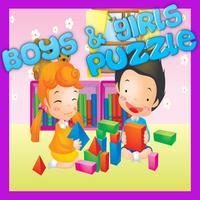 Cutey Boys And Girls Jigsaw Puzzle