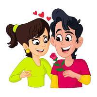 Romantic Couple Emoji Stickers