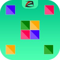 Four Square Dots Match : Connect the colourful squares