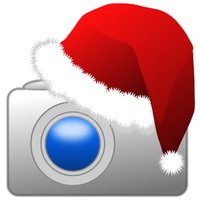 Elf Santa Camera Photo Booth Xmas Stickers & Frame
